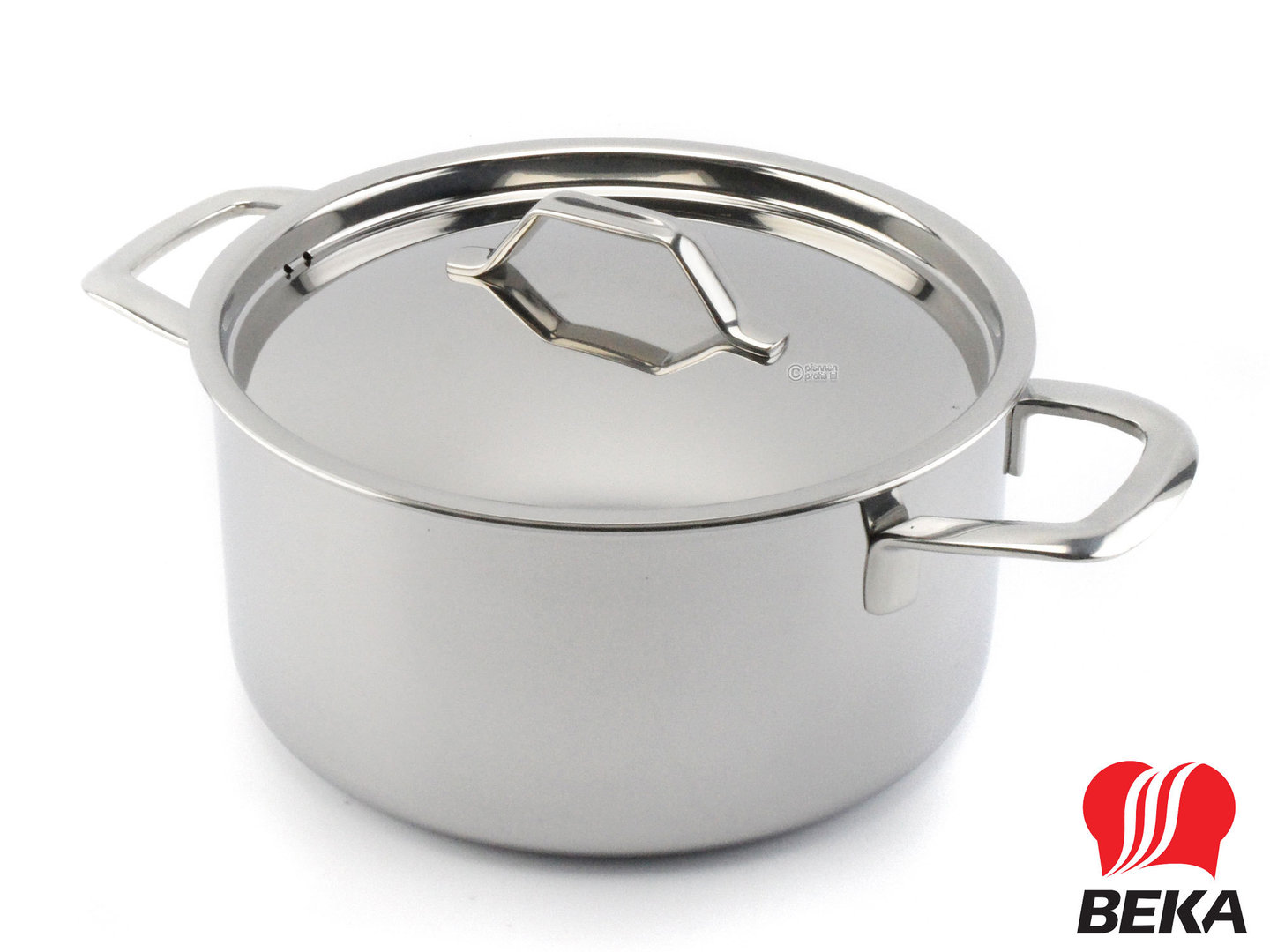 BEKA 3-ply casserole TRI-LUX 20 cm multi-layer stainless steel with lid