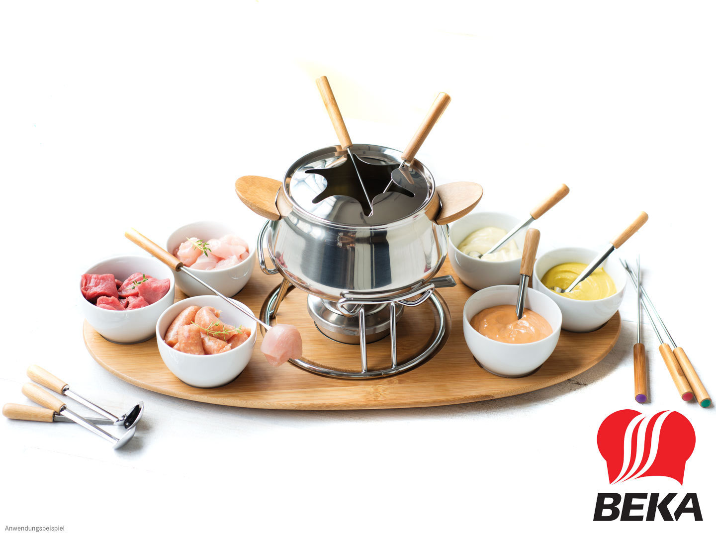 beka fondue set verona mit dip schalen online kaufen bei. Black Bedroom Furniture Sets. Home Design Ideas