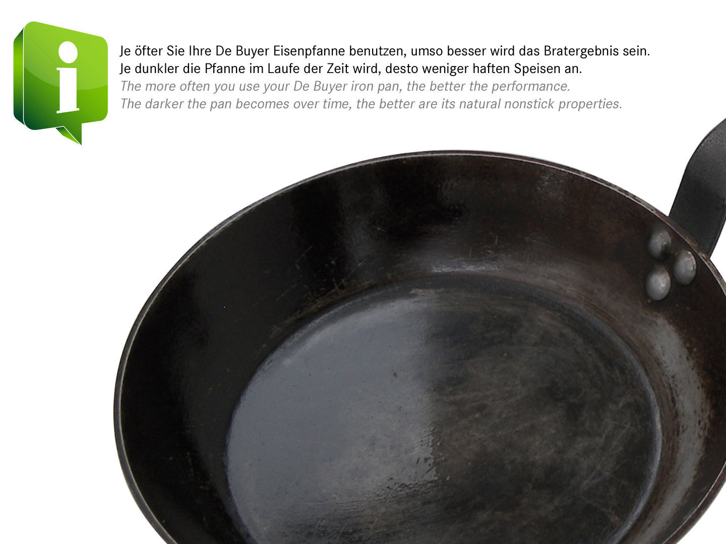 iron crepe pan 30 cm | buy online at pfannenprofis.de