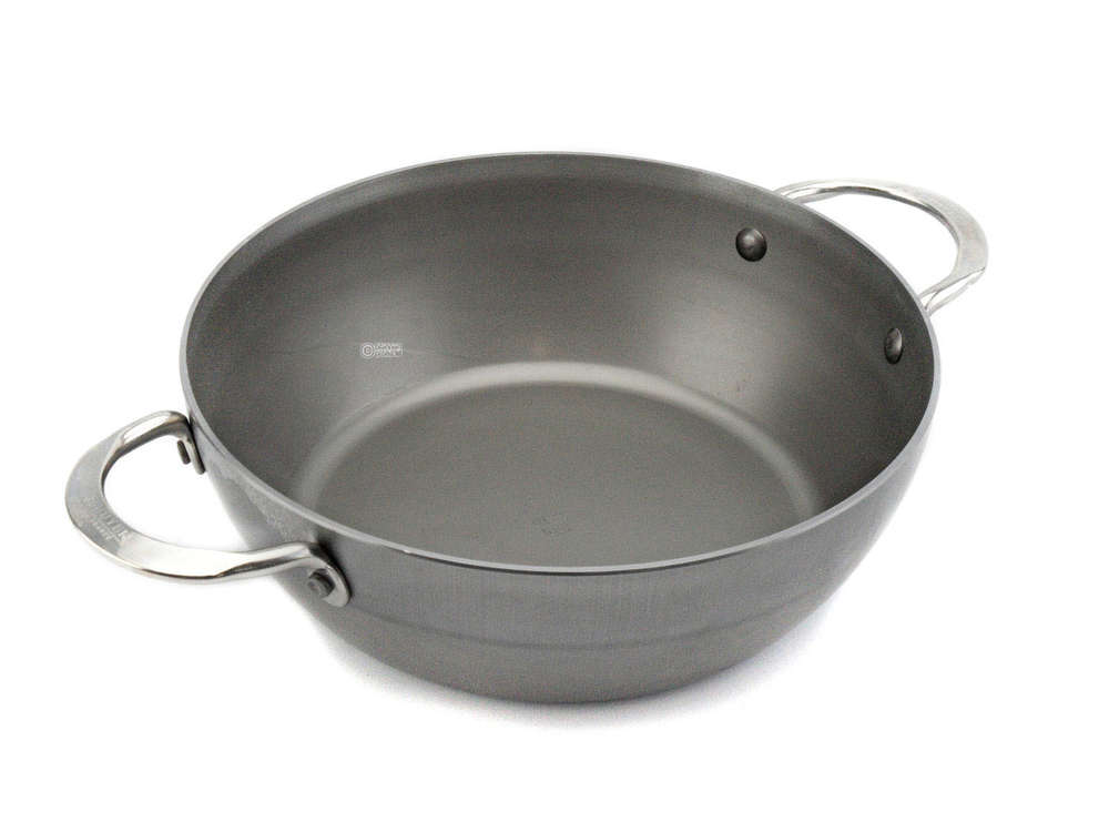 deep iron skillet 24 cm side handles | buy online at pfannenprofis.de