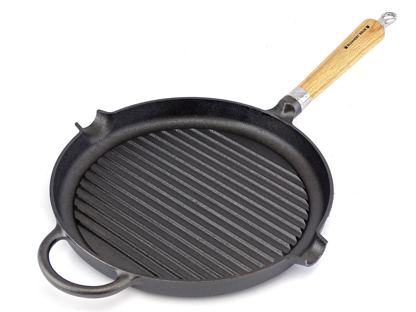 RONNEBY BRUK cast iron grill pan MAESTRO 28 cm oakwood handle, pre-seasoned