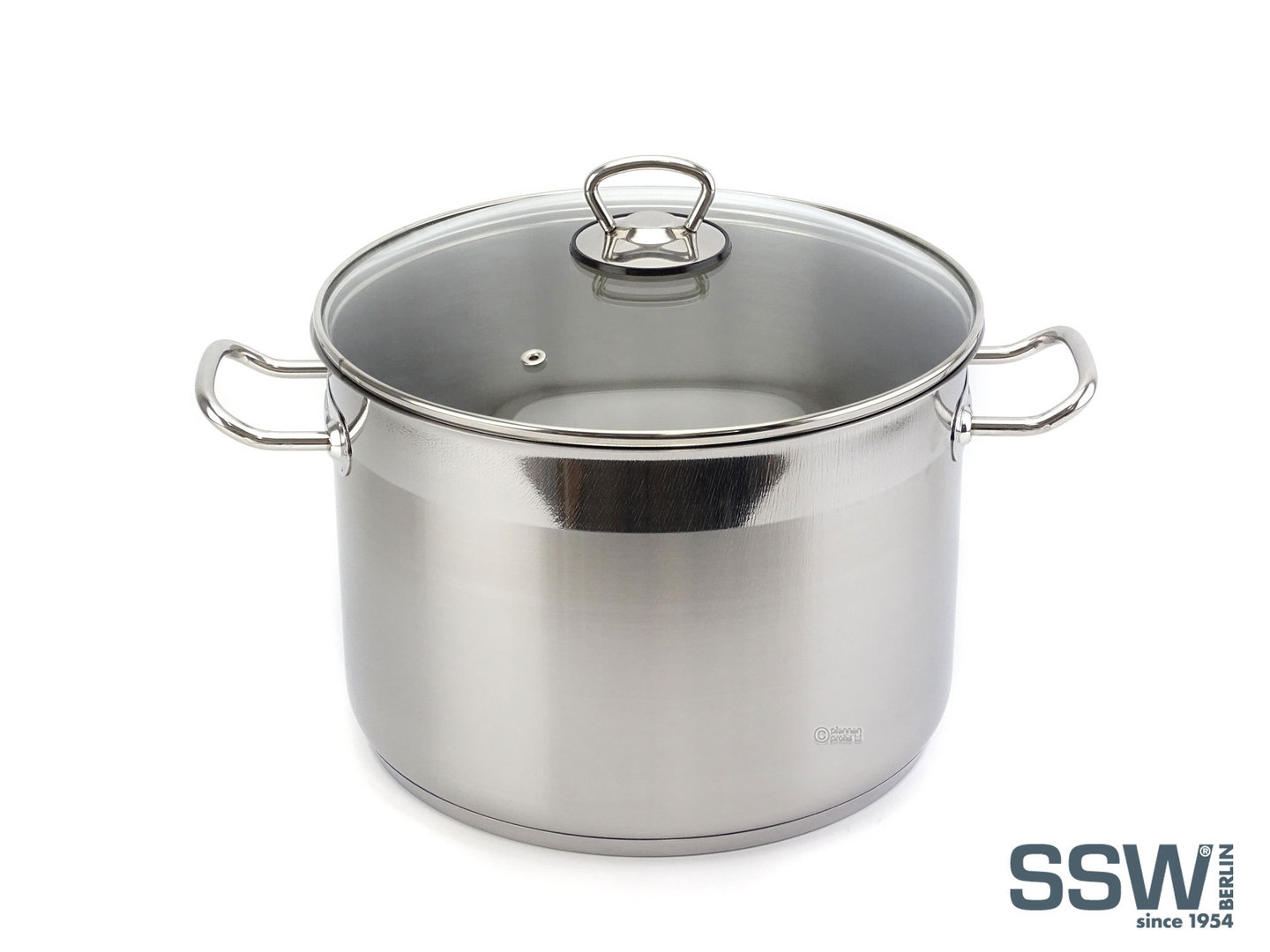 SSW stainless steel stockpot BIG 10 liter with glass lid 26 cm induction XL casserole