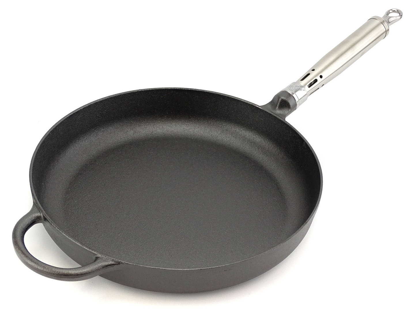 RONNEBY BRUK cast iron frypan MAESTRO 28 cm stainless steel handle, pre-seasoned