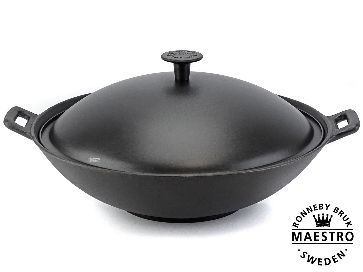 Maestro Cast Iron Wok 36 Cm With Lid Buy Online At
