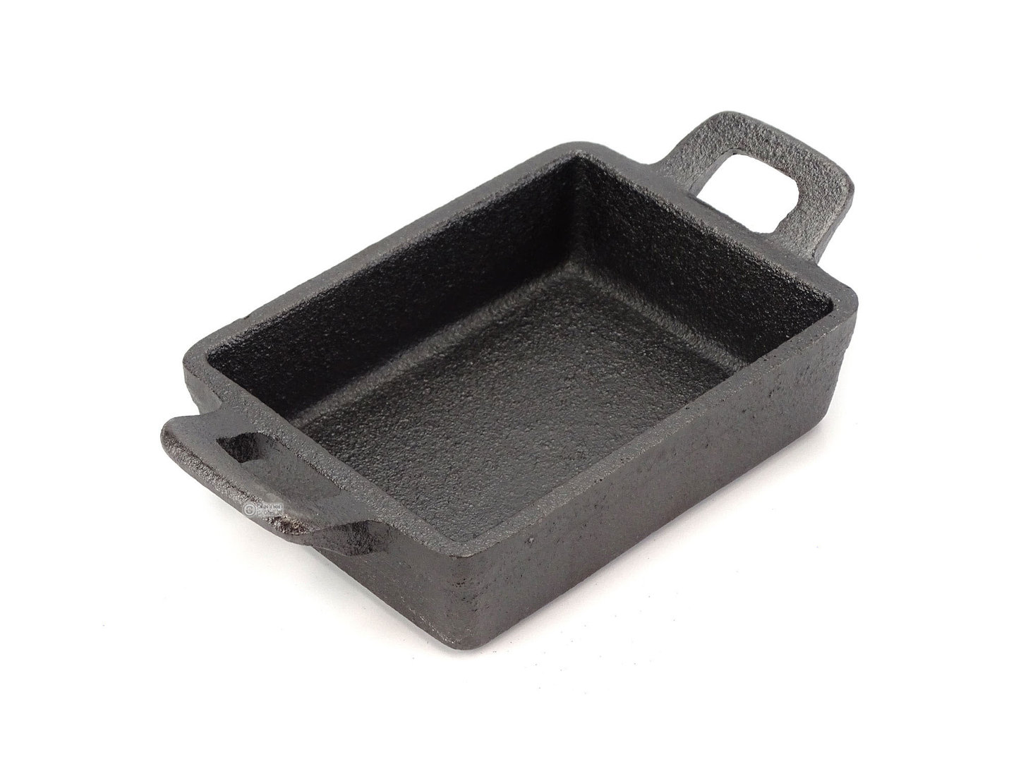 RONNEBY BRUK mini cast iron serving dish RONDO 12x9 cm RECTANGULAR, pre-seasoned