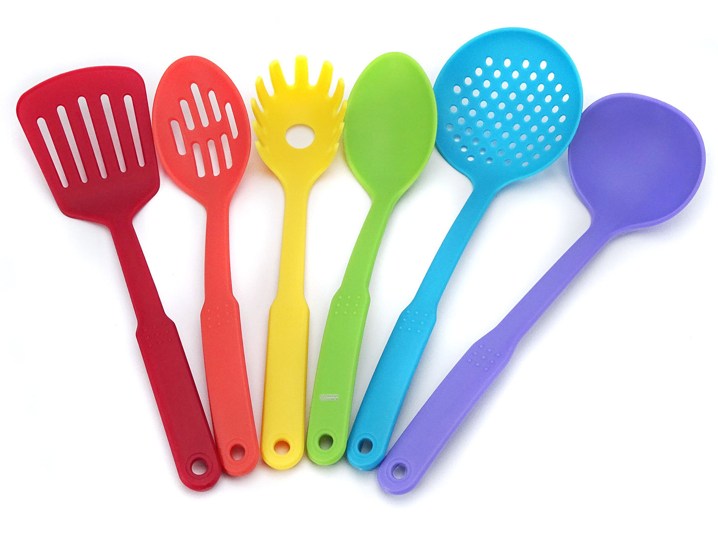 Superbe RAINBOW Colored Plastic Kitchen Utensils Set 6 Pcs ...