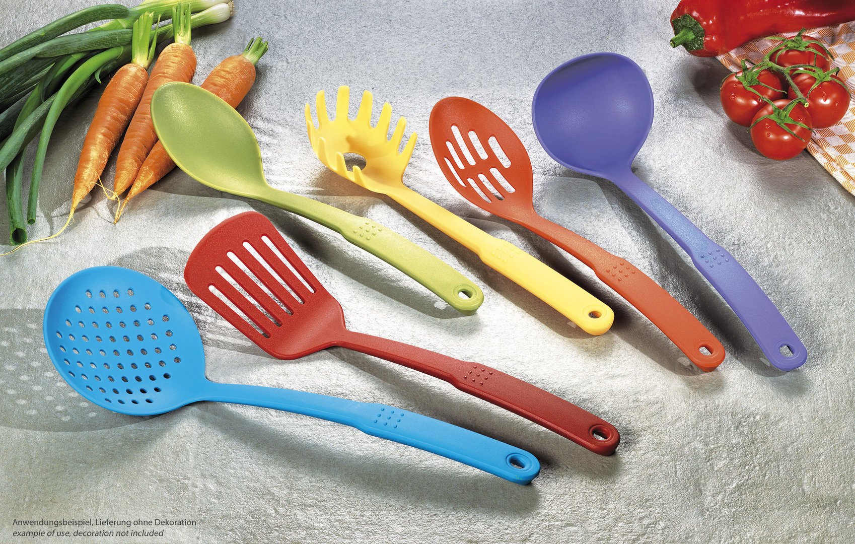 Colorful kitchen utensils set buy online at for Colorful kitchen tools