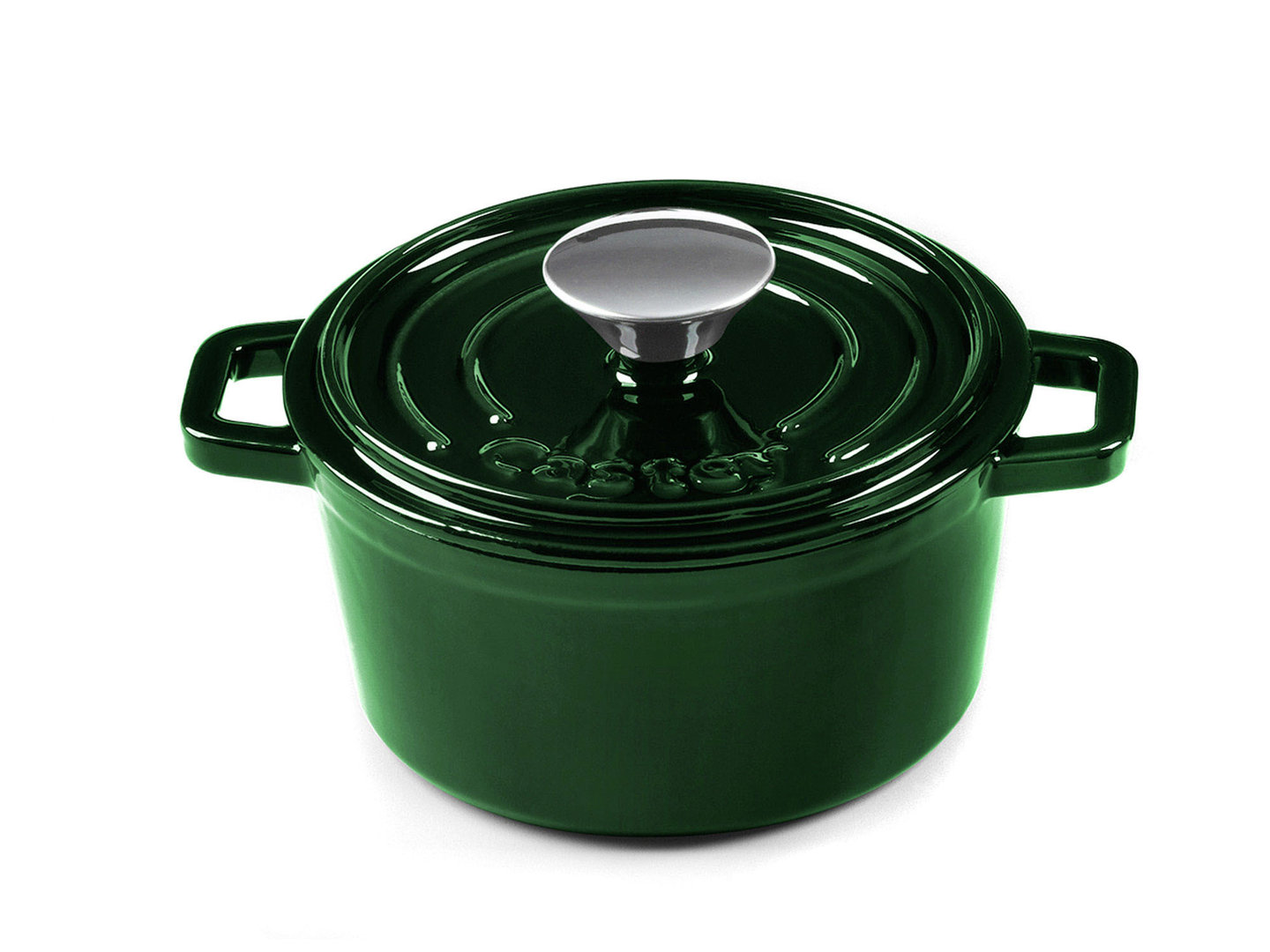 CASTEY Gusseisen Topf COCOTTE 16 cm JADE Emaille