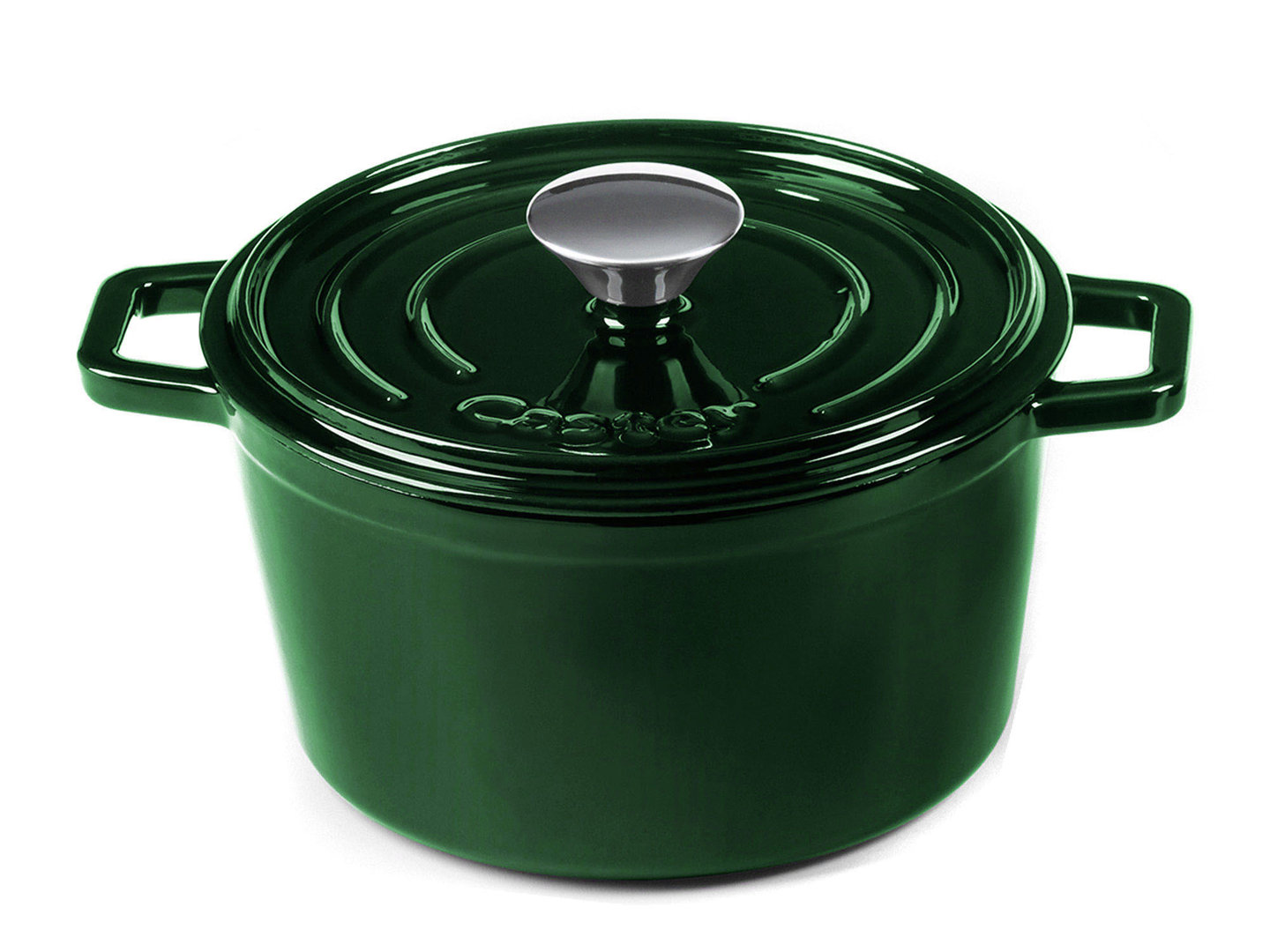 CASTEY Gusseisen Topf COCOTTE 20 cm JADE Emaille