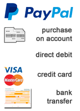 purchase on account, PayPal, pre-payment bank transfer