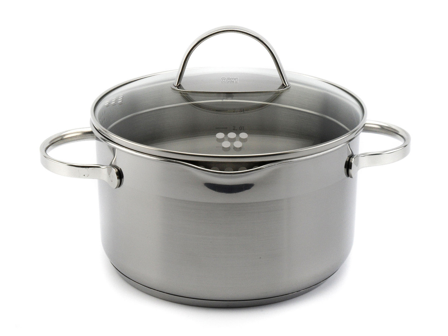 SSW easy straining casserole COMFORT 20 cm 3.6 L stainless steel induction