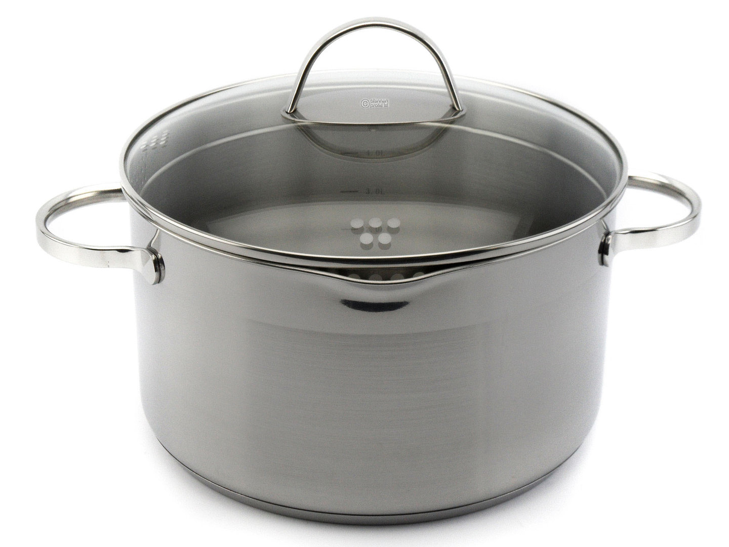 SSW easy straining casserole COMFORT 24 cm 6.1 L stainless steel induction