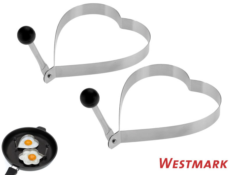 WESTMARK food mould HEART 2 pc set with heat protector