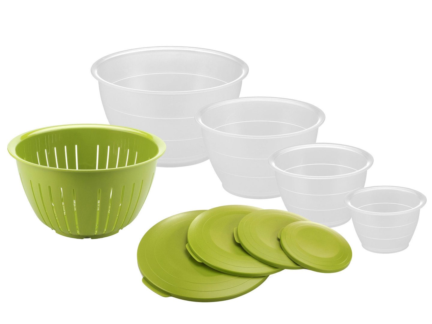 WESTMARK 9 pcs bowl set with colander OLYMPIA apple green