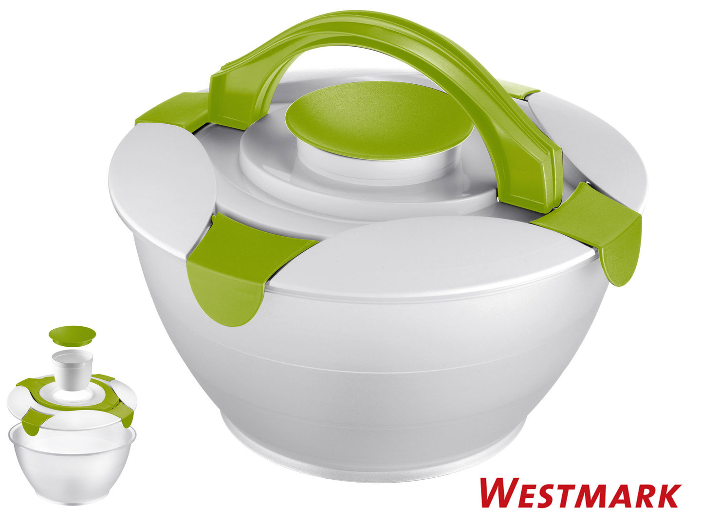 WESTMARK salad butler 6,5 l take-along salad bowl with lid APPLE GREEN