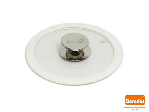 BERNDES glass lid with silicone rim white 20 cm