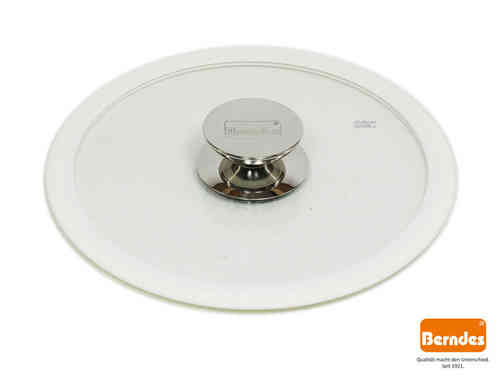 BERNDES glass lid with silicone rim white 24 cm