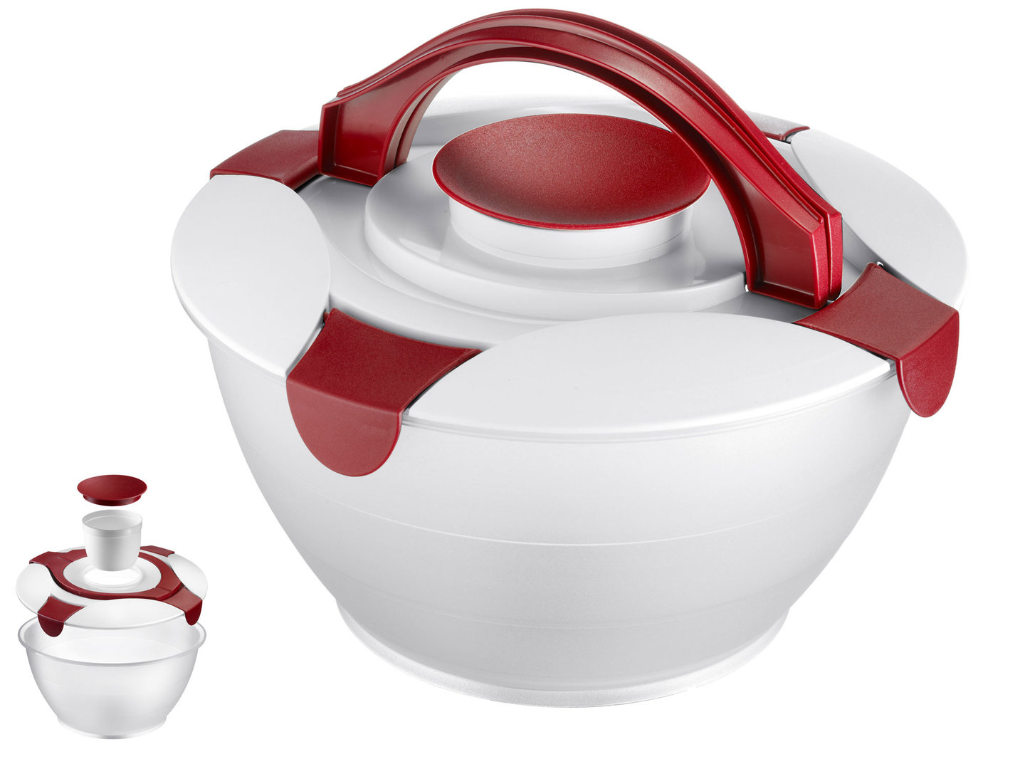 WESTMARK salad butler 6,5 l take-along salad bowl with lid RED