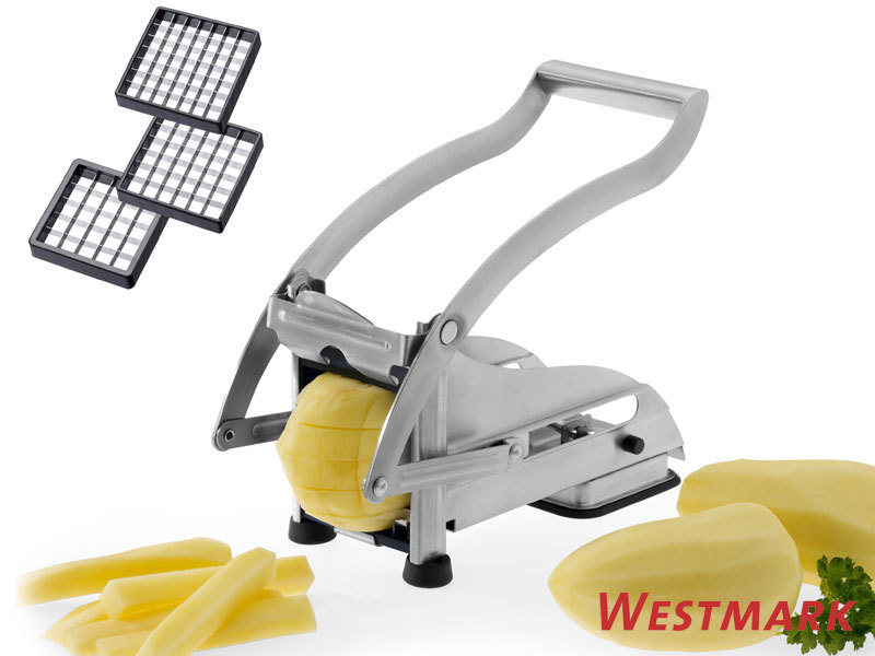 WESTMARK potato chipper stainless steel with 3 inserts