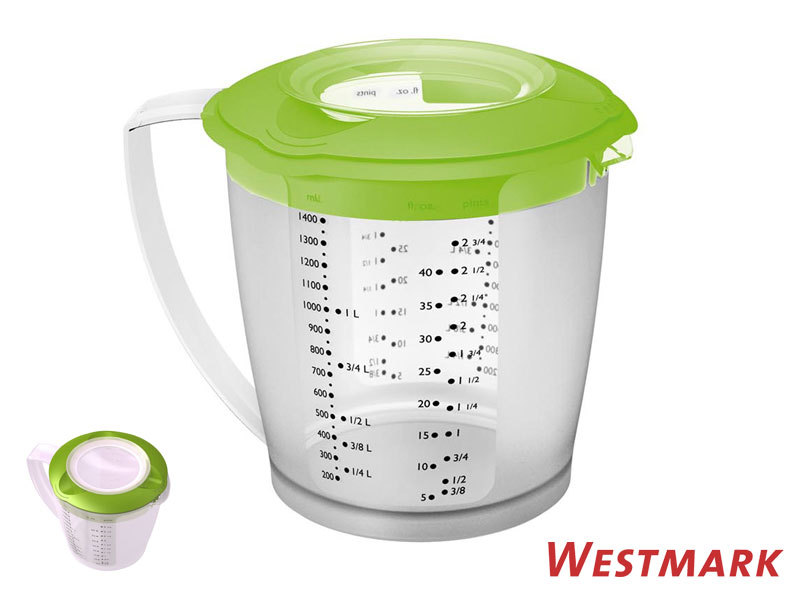 WESTMARK mixing / measuring jug HELENA with anti-splatter lid APPLE GREEN