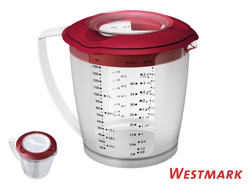 WESTMARK mixing / measuring jug HELENA with anti-splatter lid RED