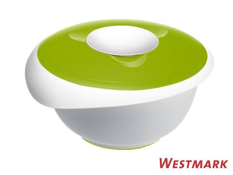 WESTMARK mixing bowl 3,5 L with splatter guard and lid APPLE GREEN
