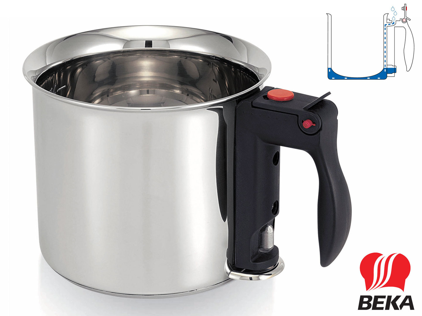 BEKA double-walled milk pot BAIN MARIE 1,7 L water bath pot