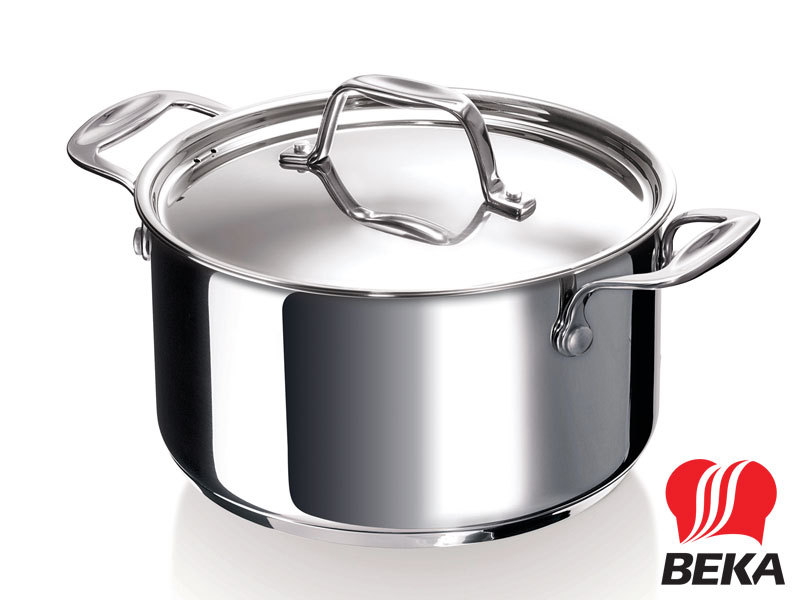 BEKA casserole CHEF 20 cm with lid stainless steel