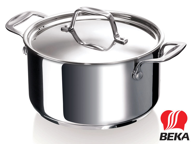 BEKA casserole CHEF 24 cm with lid stainless steel