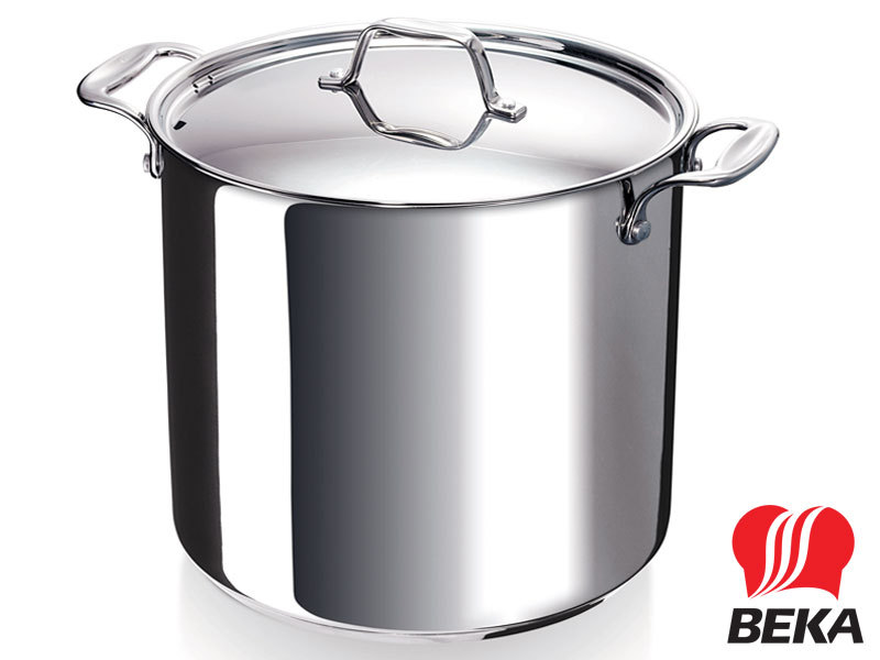 BEKA stockpot CHEF with lid 28 cm stainless steel deep casserole 17 Liter