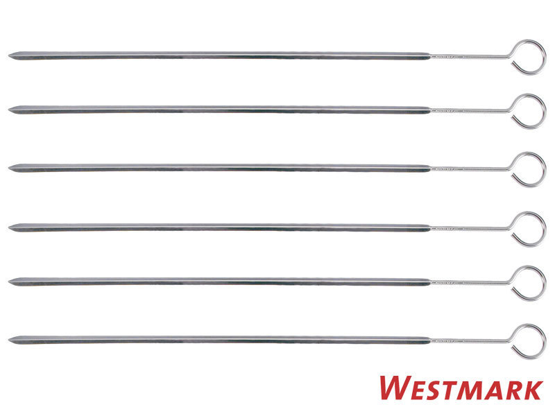 WESTMARK 6 pcs flat shish kebap skewers 37 cm stainless steel
