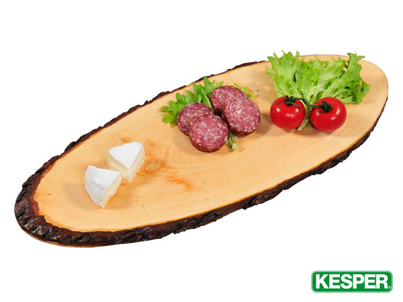 KESPER wood serving tray with bark
