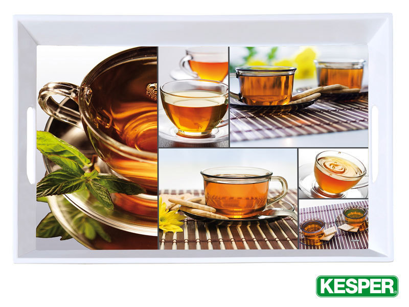 KESPER large serving tray 50 x 35 cm with motive TEA