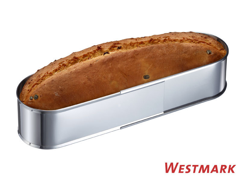 WESTMARK ovale Backform Edelstahl verstellbar 27-40cm Brotbackform