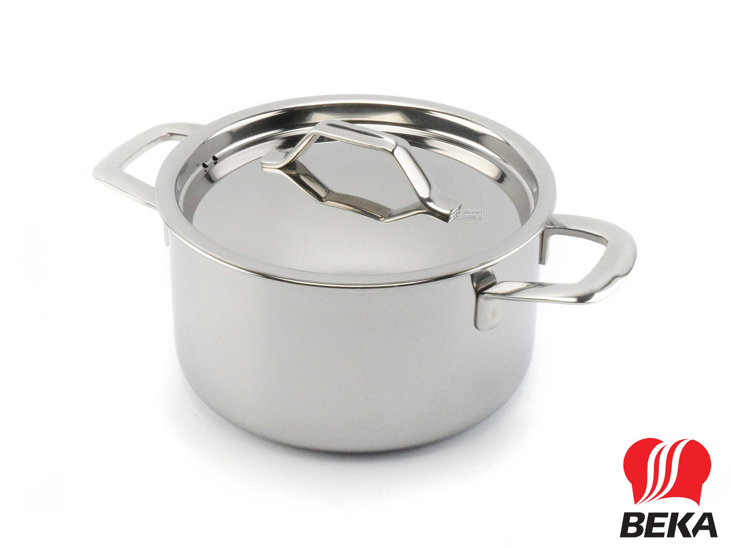BEKA 3-ply casserole TRI-LUX 16 cm multi-layer stainless steel with lid