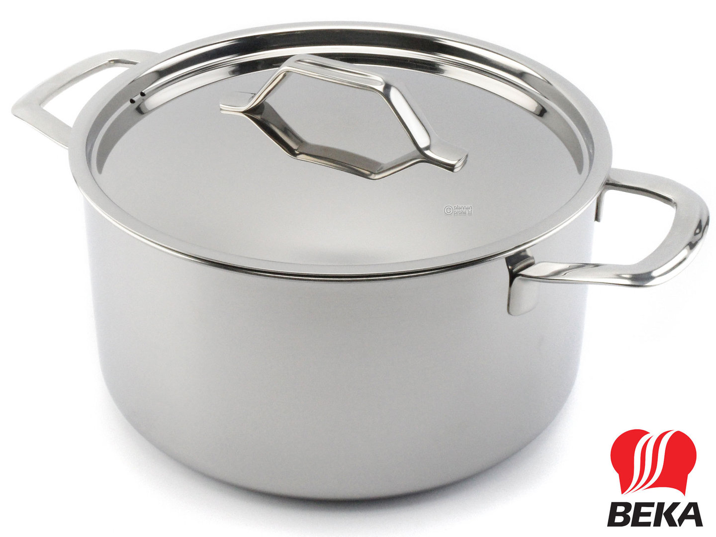 BEKA 3-ply casserole TRI-LUX 24 cm multi-layer stainless steel with lid
