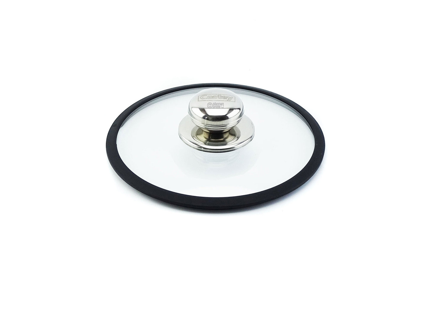 CASTEY ovenproof glass lid 16 cm with silicone rim