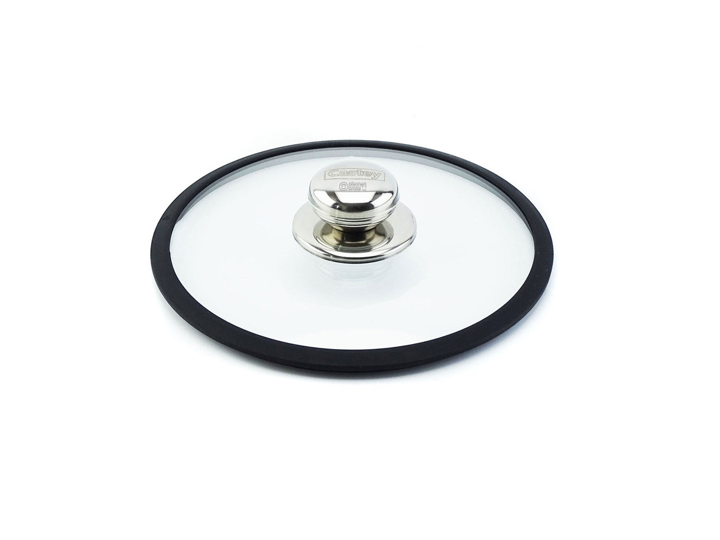 CASTEY ovenproof glass lid 18 cm with silicone rim