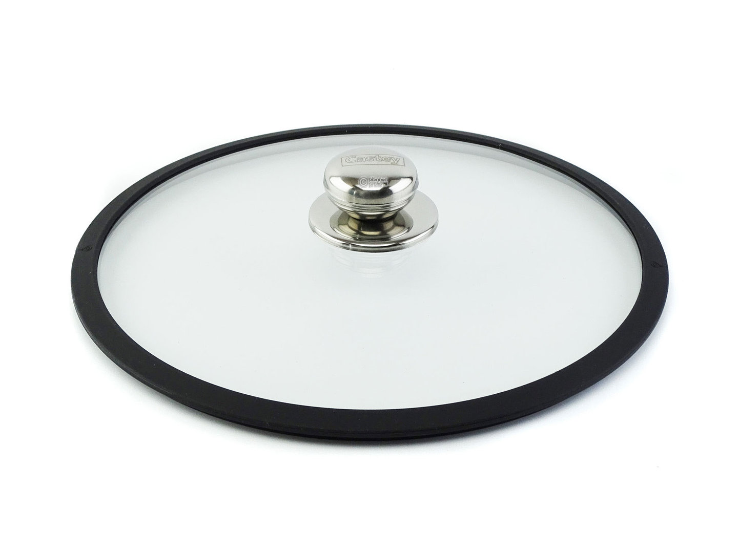 CASTEY ovenproof glass lid 28 cm with silicone rim