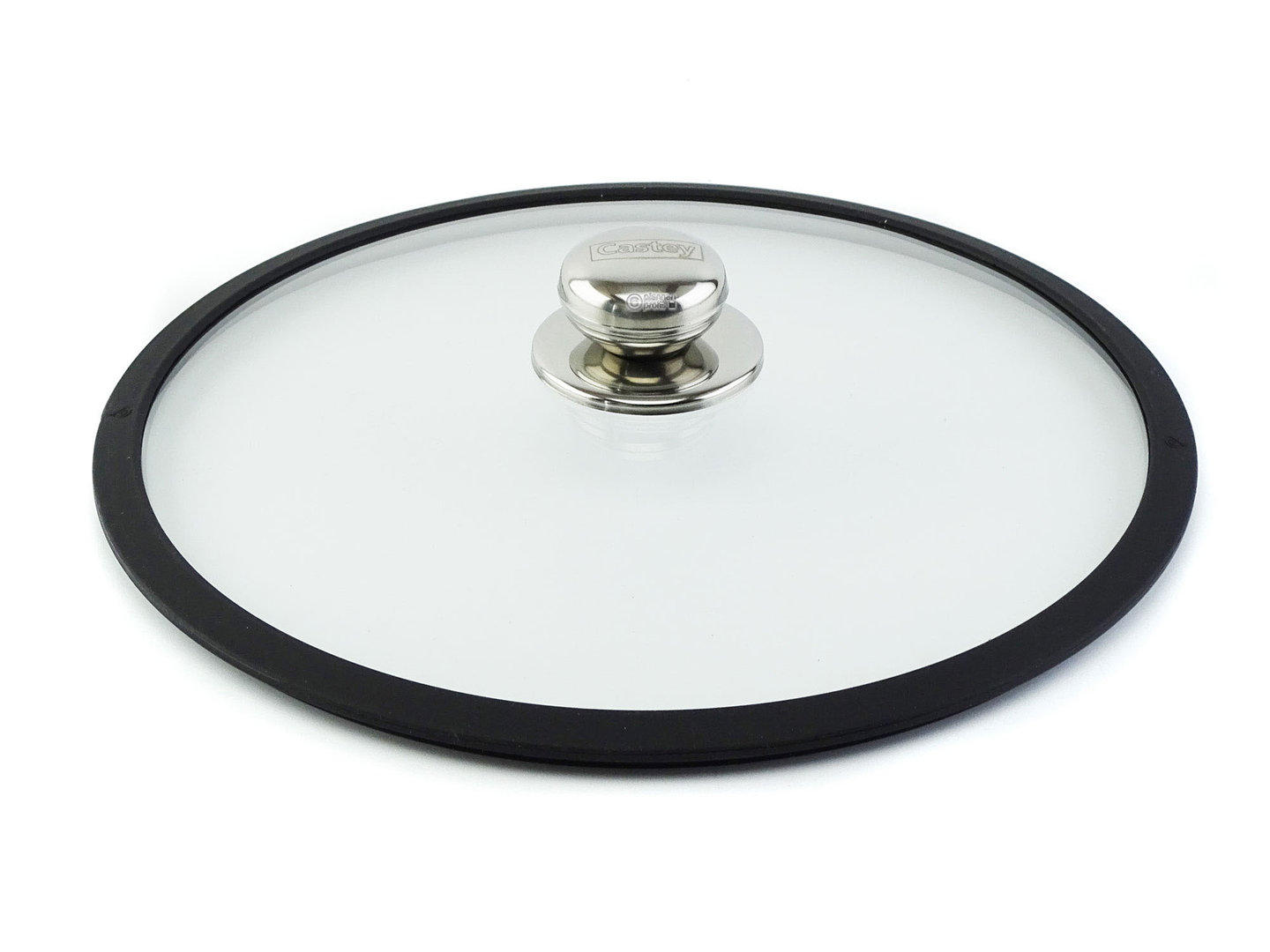 CASTEY ovenproof glass lid 30 cm with silicone rim
