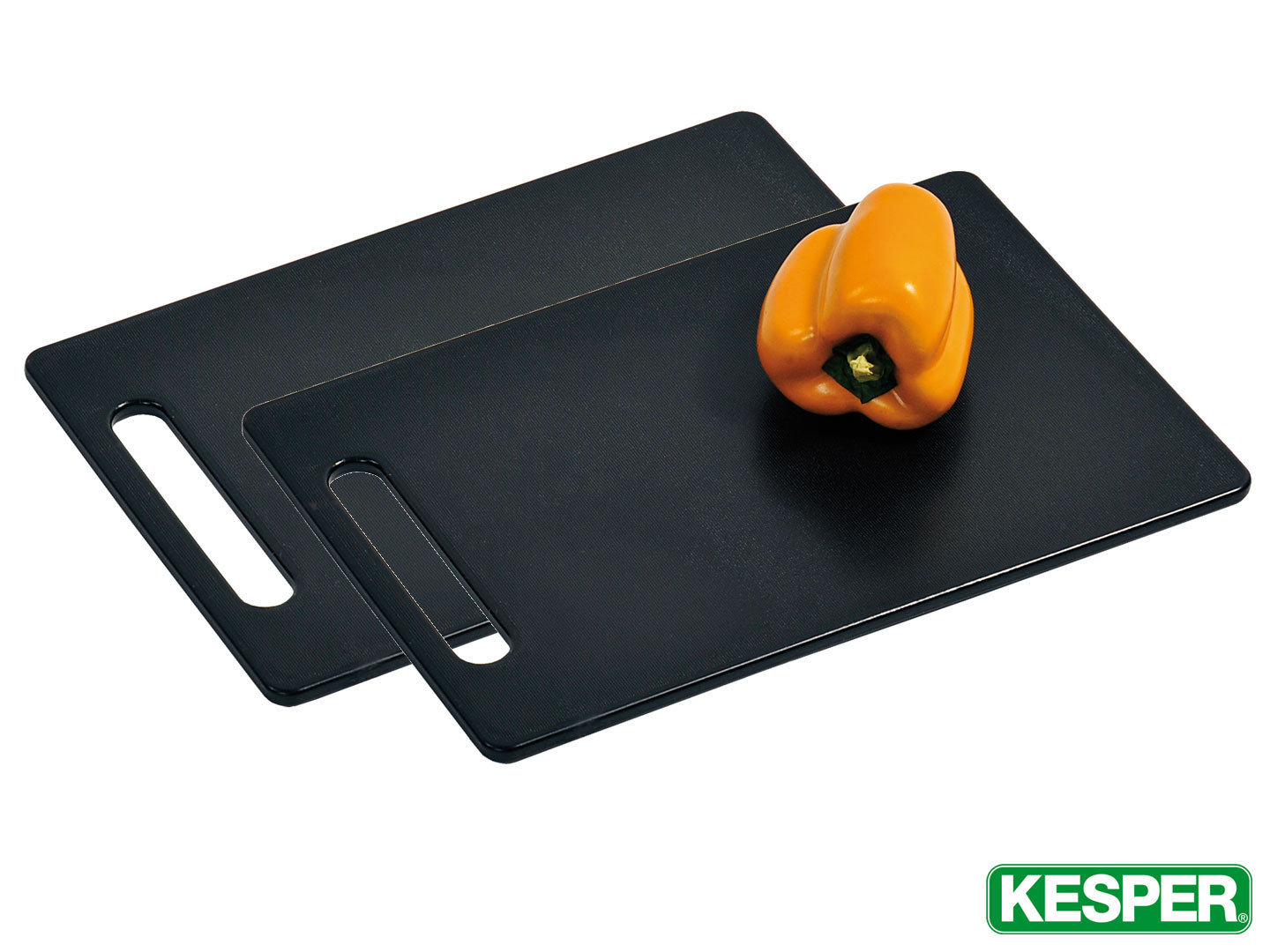 KESPER 2 pcs cutting board set 30 x 20 x 0,8 cm black plastic