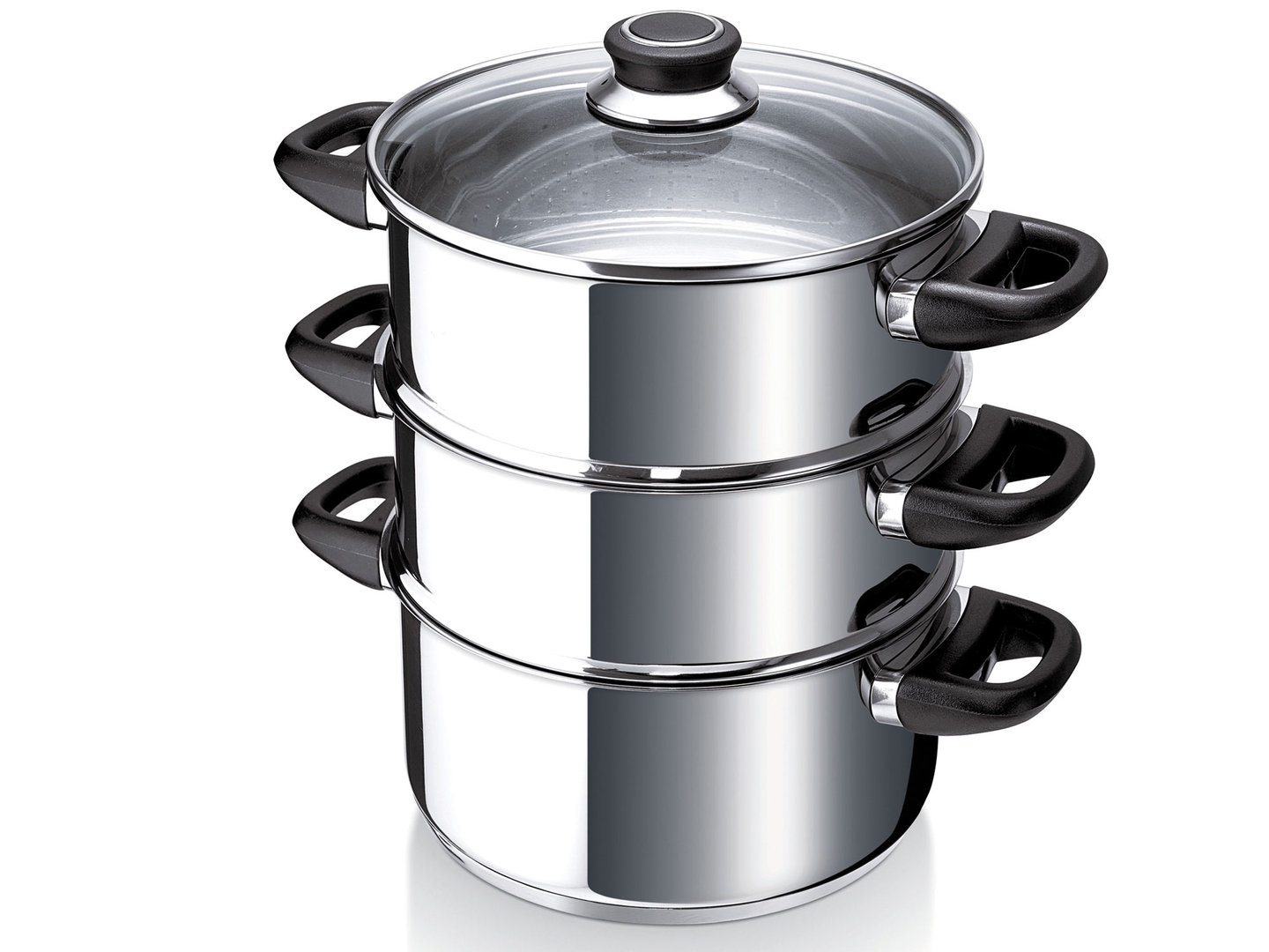 BEKA steamer POLO 24 cm stainless steel with 2 inserts