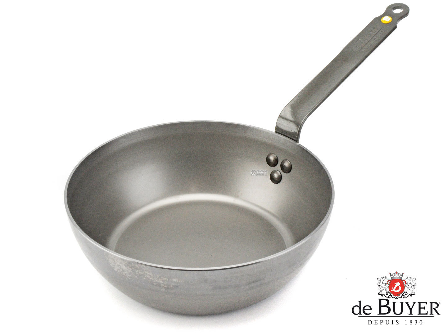 DE BUYER iron country pan MINERAL B ELEMENT 24 cm deep skillet