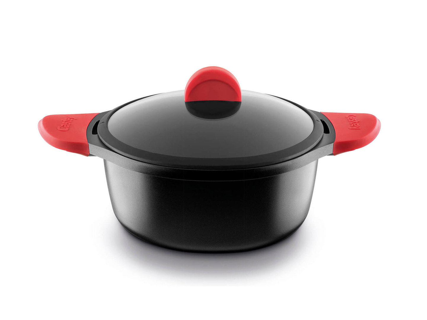 CASTEY cast aluminum casserole 20 cm with silicone handles induction
