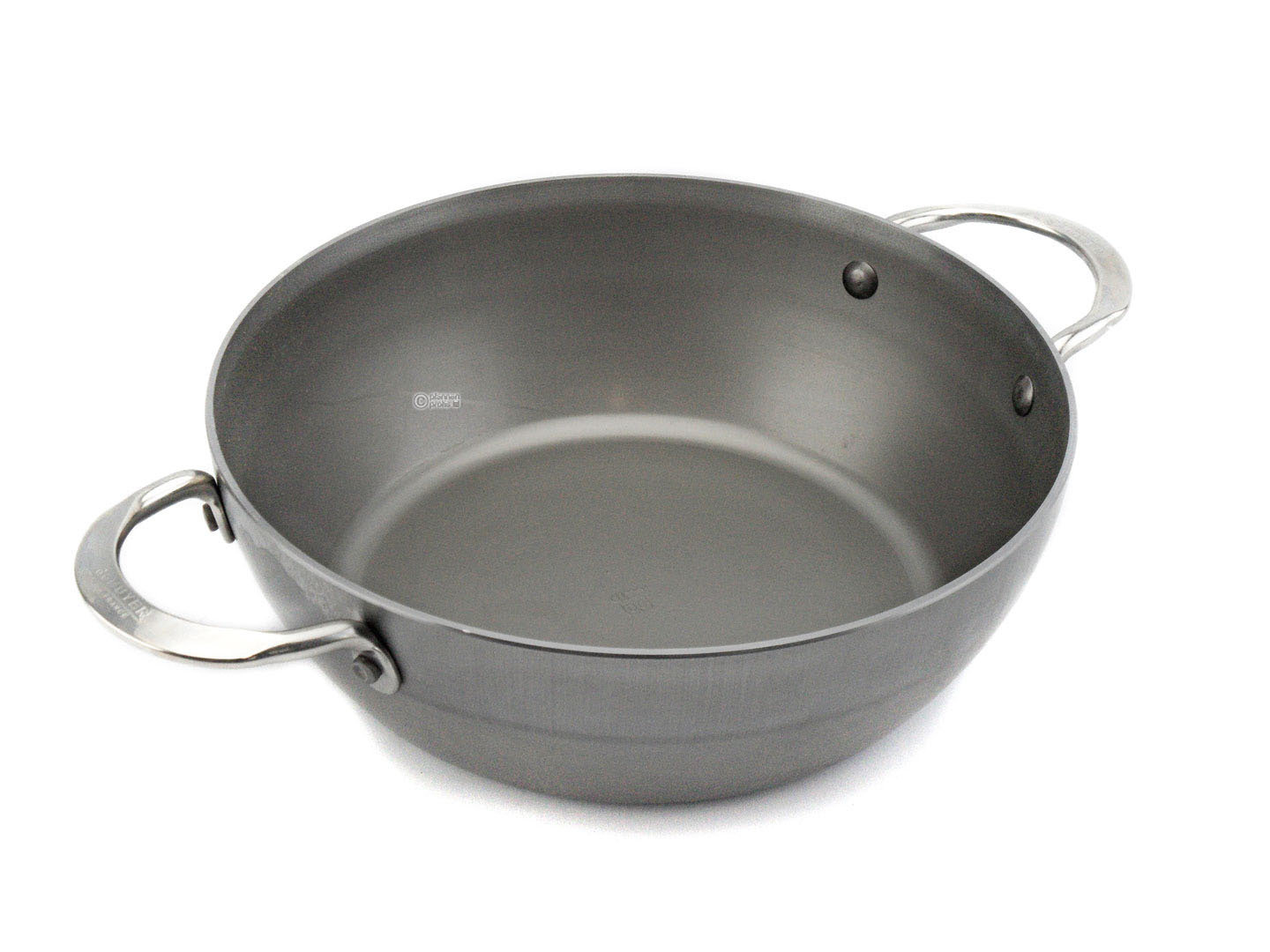 DE BUYER iron country pan MINERAL B ELEMENT 24 cm deep skillet with 2 handles