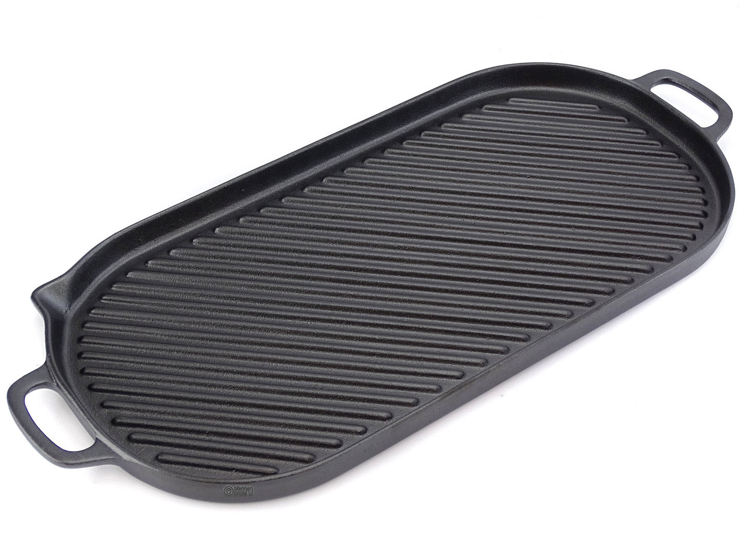 RONNEBY BRUK cast iron griddle 23x47 cm, pre-seasoned