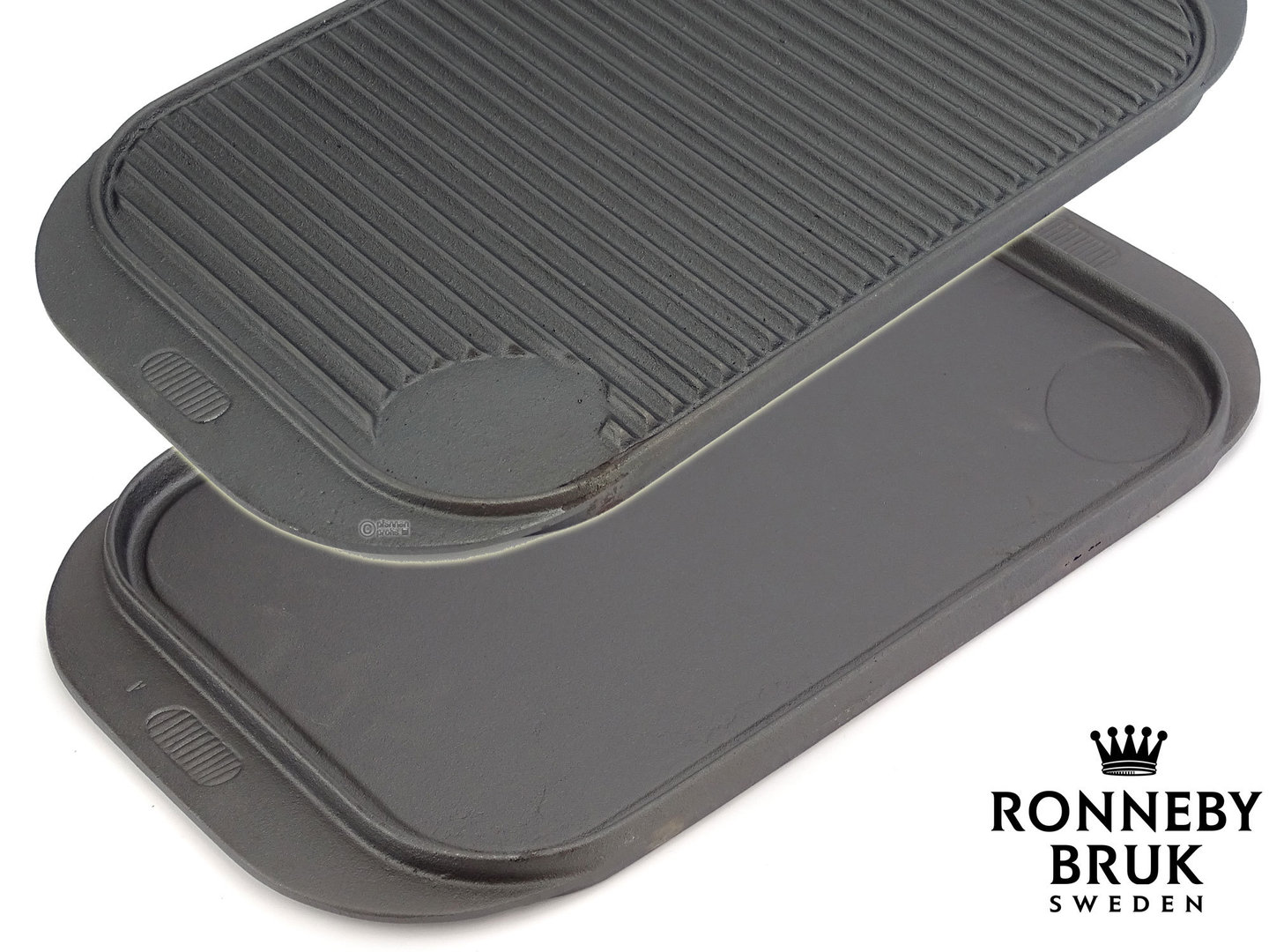 RONNEBY BRUK  cast iron 2-in-1 griddle flat & ribbed, pre-seasoned