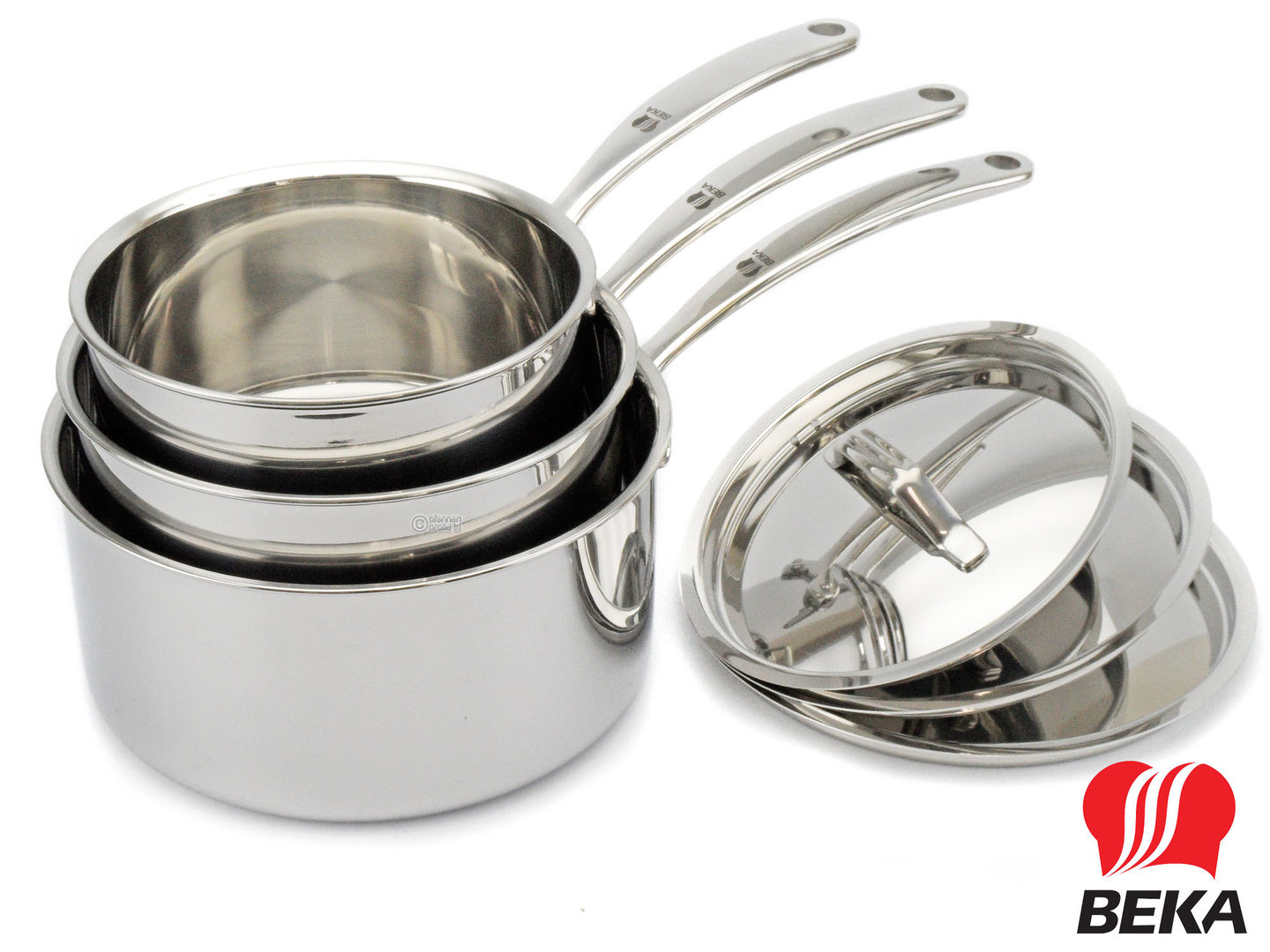 BEKA 3-ply saucepan set TRI-LUX 16 18 20 cm with lids