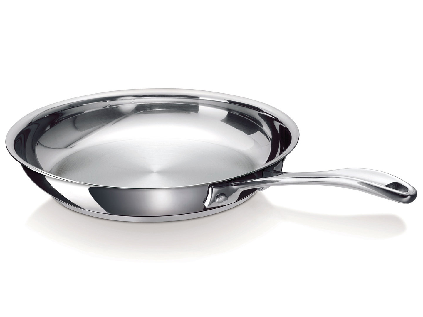 BEKA stainless steel frypan CHEF 28 cm uncoated induction