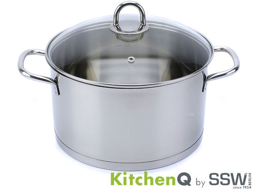 SSW casserole PROFI STAR 24 cm 6.1 L stainless steel with glass lid induction